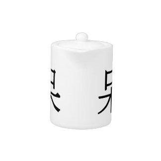 dāi - 呆 (foolish) teapot