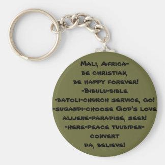 ¡DA! /Mali, África, sea cristiano y feliz para Llavero Redondo Tipo Pin