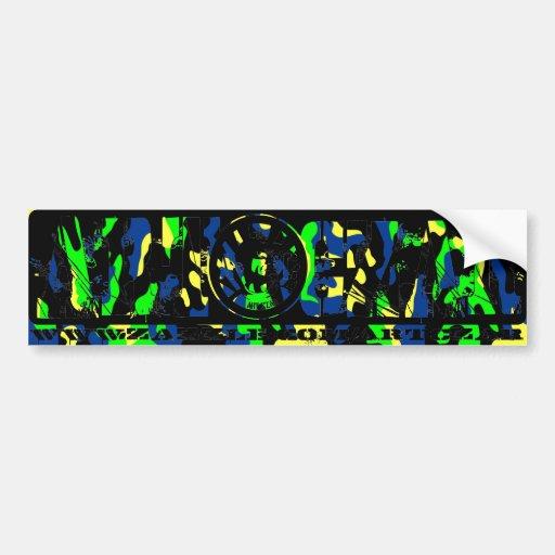 """Da' Man"" #3 (BG Camo) - ART CZAR Bumper Sticker Car Bumper Sticker"
