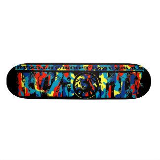 Da' Man #5 (Cyan Camo) - Skateboard