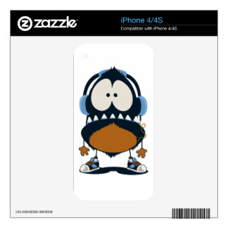 DA MUSIC DECALS FOR iPhone 4