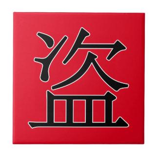 dào - 盗 (robe) azulejo cuadrado pequeño