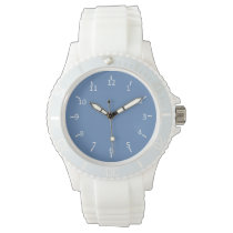 Da Powdah Blue and White 1st and 10 Wristwatches