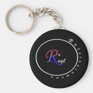 da_real_logo basic round button keychain
