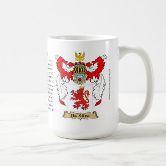Da Silva, the Origin, the Meaning and the Crest Coffee Mug