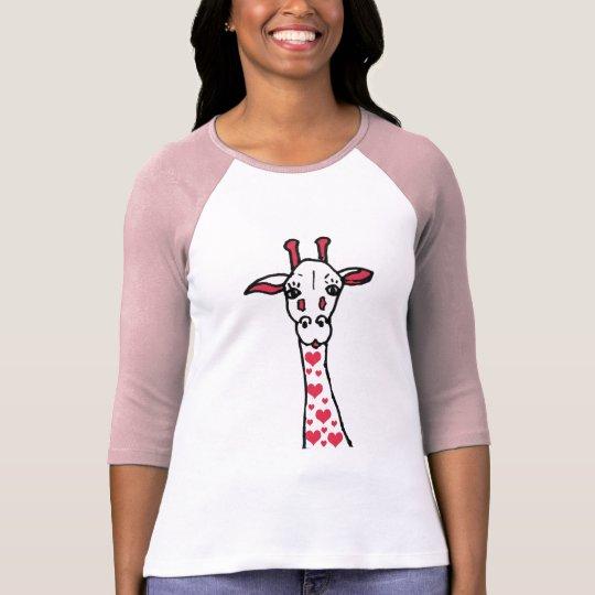 DA- Valentine's Day Giraffe with Hearts Shirt