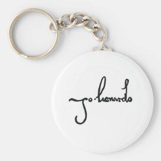 Da Vinci autograph Basic Round Button Keychain