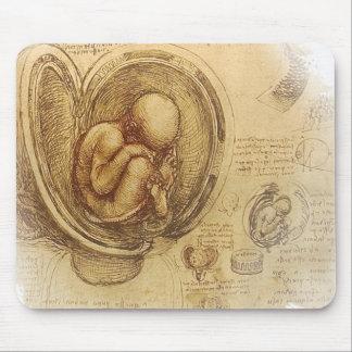da Vinci - bosquejo del embrión Mouse Pads