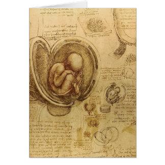 da Vinci - bosquejo del embrión Tarjeta De Felicitación