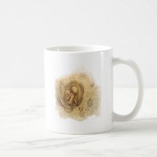 da Vinci - bosquejo del embrión Taza De Café