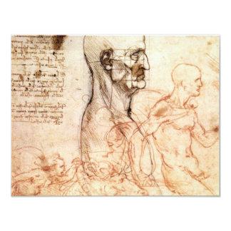 da Vinci -- Bosquejo del hombre y del caballo Invitación Personalizada