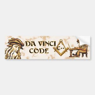 Da Vinci Code C++ Bumperstickers Pegatina Para Auto