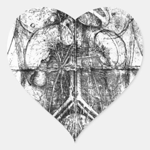 Da Vinci Collection Pegatina En Forma De Corazón