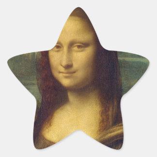 da_Vinci de Leonardo de Mona Lisa de la alegría de Pegatina En Forma De Estrella