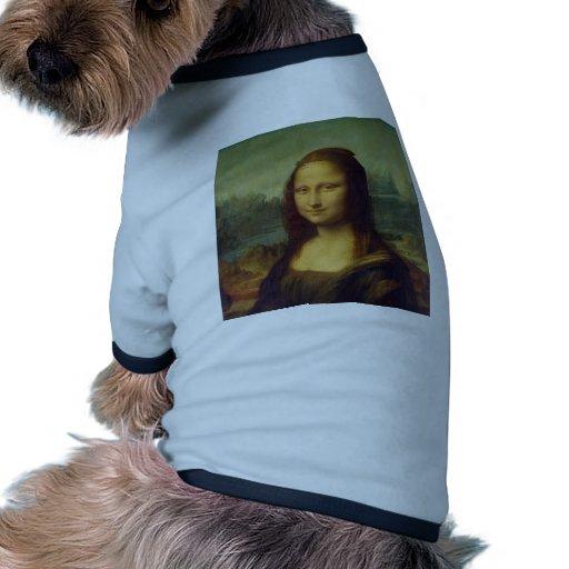 da_Vinci de Leonardo de Mona Lisa de la alegría de Ropa Para Mascota