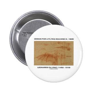 Da Vinci Design For A Flying Machine Pinback Button