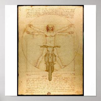 Da Vinci Dirt Bike Motocross Supercross Freestyle  Poster