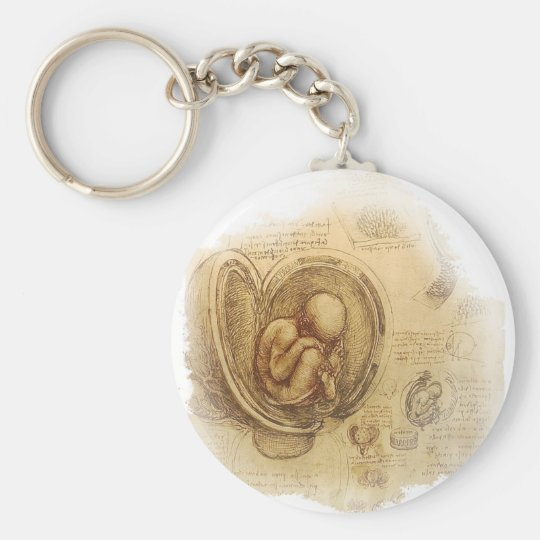 da Vinci - Embryo Sketch Keychain