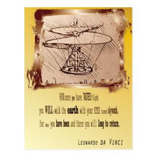 Da Vinci Helicopter 2 Postcard
