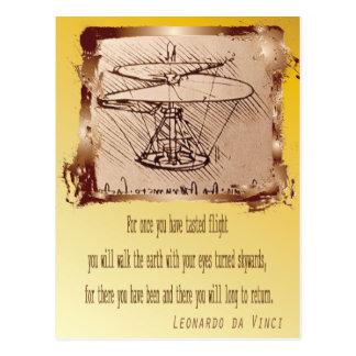 Da Vinci Helicopter Leonardo Postcard