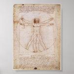 Da Vinci: Hombre de Vitruvian Posters