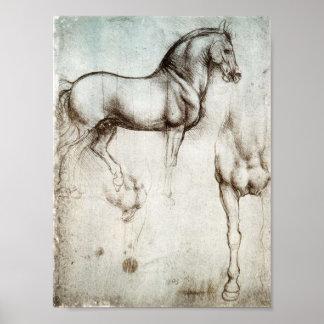 Da Vinci Horse Poster