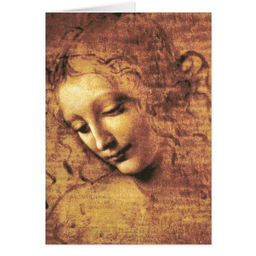 Da Vinci La Scapigliata Note Card