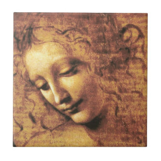 Da Vinci La Scapigliata Tile