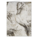 Da Vinci, Leonardo - estudio de la anatomía Tarjeta De Felicitación
