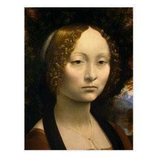 Da Vinci, Leonardo Ginevra de' Benci Postcard