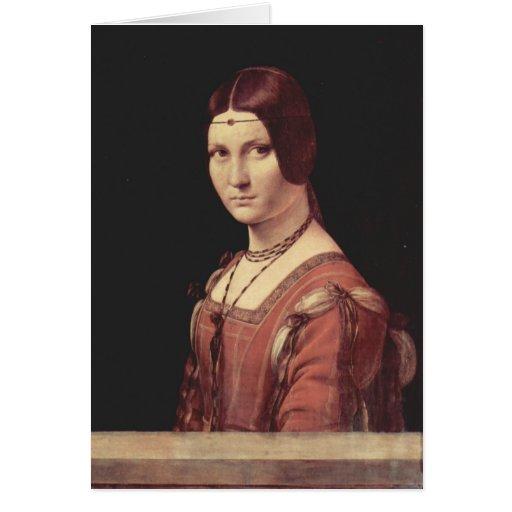 Da Vinci Leonardo - La belle ferronnière Card