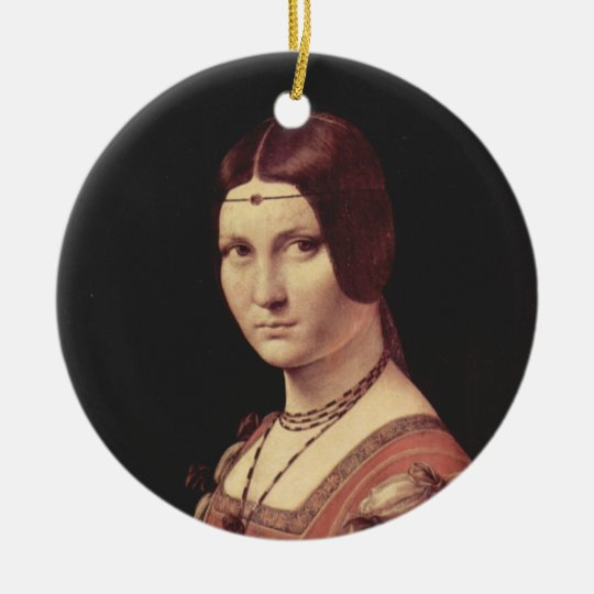 Da Vinci Leonardo - La belle ferronnière Ceramic Ornament