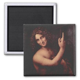 Da Vinci, Leonardo - St. John el Bautista Imán Cuadrado