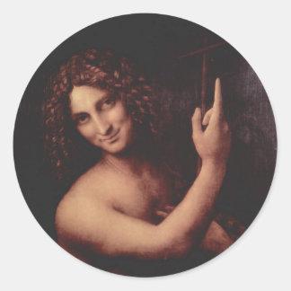 Da Vinci, Leonardo - St. John the Baptist Classic Round Sticker