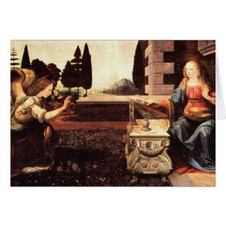 Da Vinci, Leonardo - The Annunciation Greeting Cards