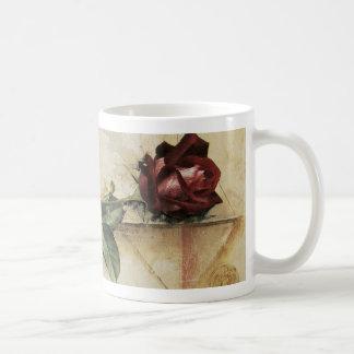 Da Vinci Letter Rose Basic White Mug