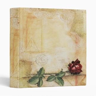 Da Vinci Letter Rose Binder