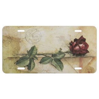Da Vinci Letter Rose License Plate