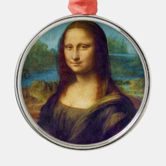 Da Vinci: Mona Lisa Adorno Redondo Plateado