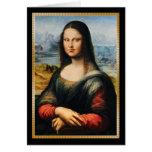 Da Vinci Mona Lisa Grumpy Face Card