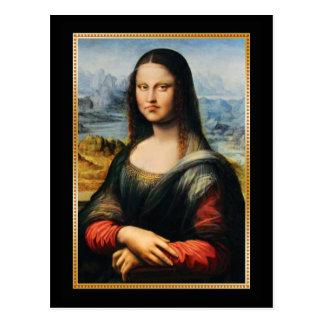 Da Vinci Mona Lisa Grumpy Face Postcard