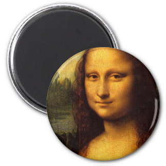 Da Vinci Mona Lisa Imán Redondo 5 Cm