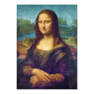 """Da Vinci: Mona Lisa Invitación 5"""" X 7"""""""