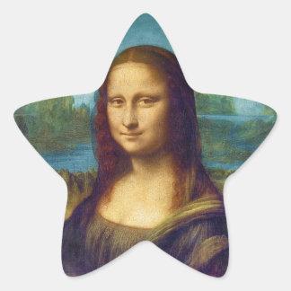 Da Vinci: Mona Lisa Pegatina En Forma De Estrella