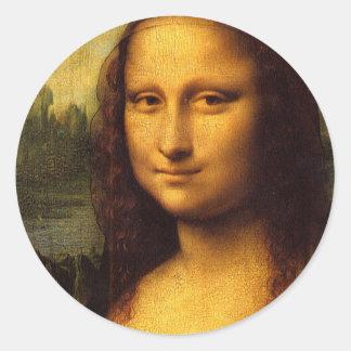 Da Vinci Mona Lisa Pegatina Redonda
