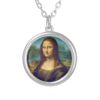 Da Vinci: Mona Lisa Round Pendant Necklace