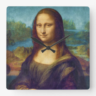 Da Vinci: Mona Lisa Square Wall Clock