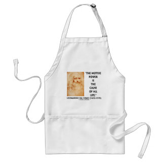 da Vinci Motive Power Is The Cause Of All Life Adult Apron