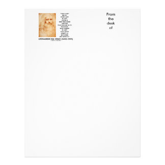 da Vinci Not Riches Lost Virtue Is Our True Good Customized Letterhead