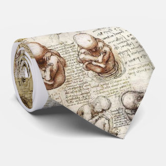 Da Vinci Notebook Fetus Drawings Neck Tie